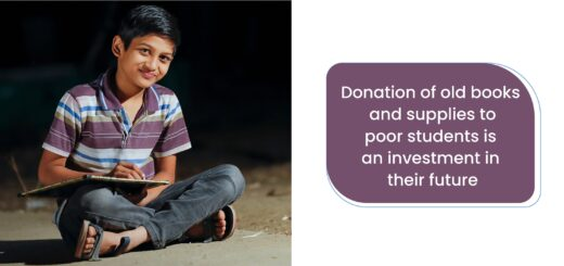 Donation of old books and supplies to poor students is an investment in their future